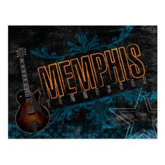 Memphis Blues Guitar Postcard