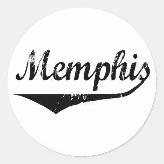 Memphis Classic Round Sticker