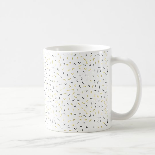 Memphis Geometric Modern Black and Gold Style Coffee