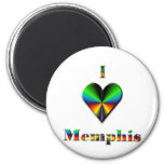 Memphis -- Green Blue & Orange Magnet