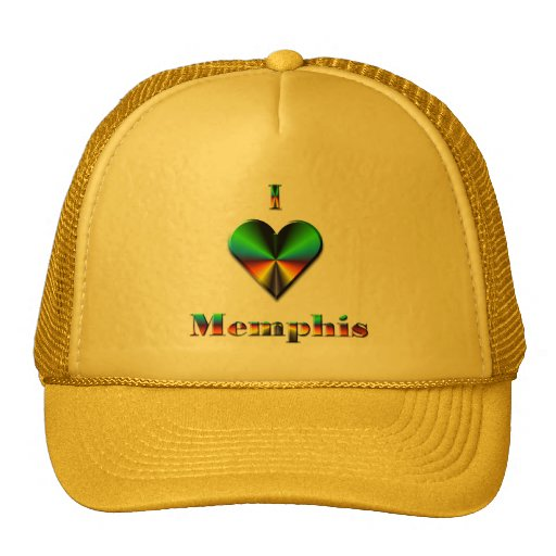Memphis -- Green Blue & Orange Trucker Hat