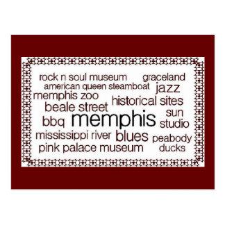 Memphis in Brown Postcard