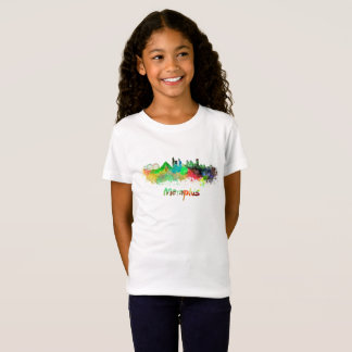 Memphis skyline in watercolor T-Shirt