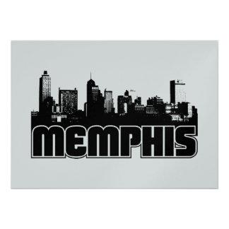 Memphis Skyline Custom Invites