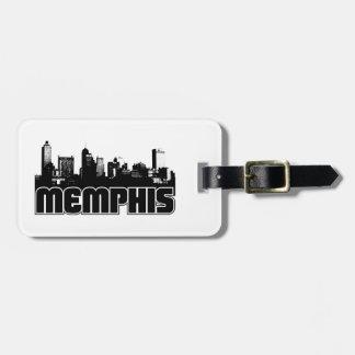 Memphis Skyline Luggage Tag