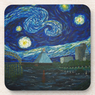 """""""Memphis Starry Night"""" by Jack Lepper Coaster"""