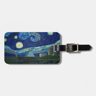 """Memphis Starry Night"" by Jack Lepper Luggage Tag"