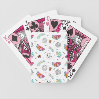 Memphis Style Tropical Summer Pattern Bicycle Playing Cards