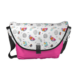 Memphis Style Tropical Summer Pattern Commuter Bag