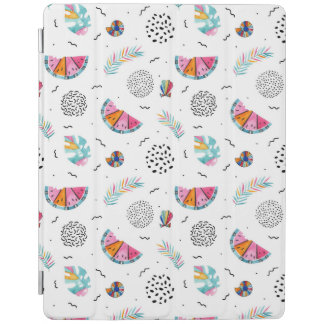 Memphis Style Tropical Summer Pattern iPad Cover