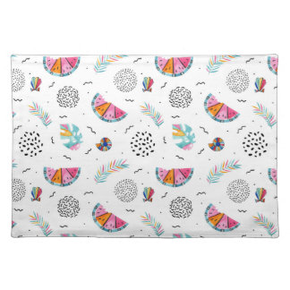 Memphis Style Tropical Summer Pattern Placemat
