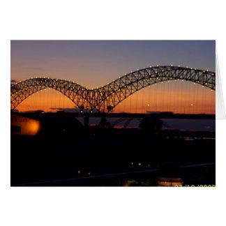 Memphis Sunset Greeting Card