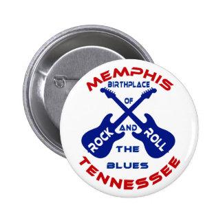 Memphis, Tennessee 6 Cm Round Badge