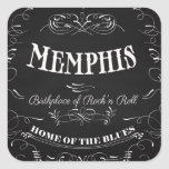 Memphis, Tennessee - City with Soul Square Sticker