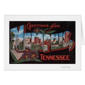 Memphis, Tennessee - Large Letter Scenes Cards