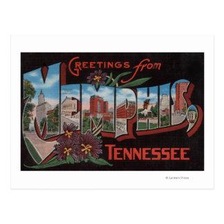 Memphis, Tennessee - Large Letter Scenes Postcard