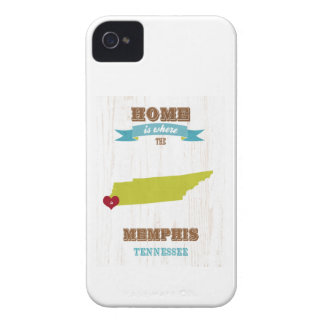 Memphis, Tennessee Map – Home Is Where The Heart I Case-Mate iPhone 4 Case