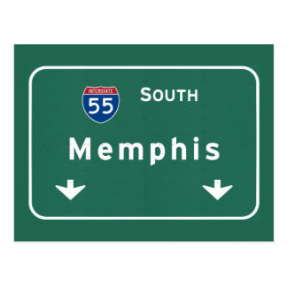 Memphis Tennessee tn Interstate Highway Freeway : Postcard