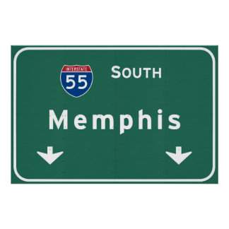 Memphis Tennessee tn Interstate Highway Freeway : Poster