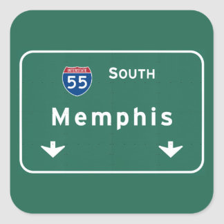 Memphis Tennessee tn Interstate Highway Freeway : Square Sticker
