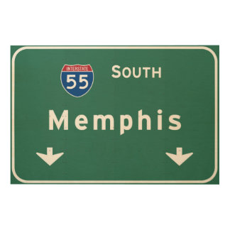 Memphis Tennessee tn Interstate Highway Freeway : Wood Canvas