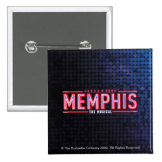 MEMPHIS - The Musical Logo 15 Cm Square Badge