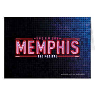 MEMPHIS - The Musical Logo Card