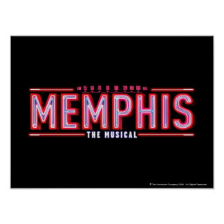 MEMPHIS - The Musical Logo Poster