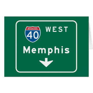 Memphis, TN Road Sign Greeting Card