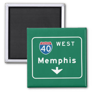 Memphis, TN Road Sign Magnet