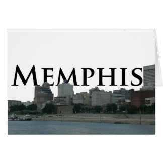 Memphis TN Skyline with Memphis the Sky Greeting Card