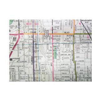 Memphis, TN Vintage Map Print