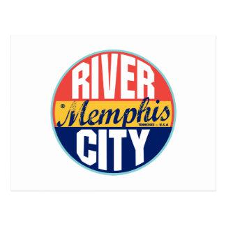Memphis Vintage Label Postcard