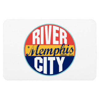 Memphis Vintage Label Rectangular Photo Magnet
