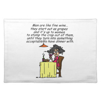 Men and FIne Wine Humor Placemats