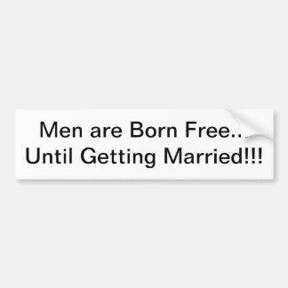 Men and Marriage Car Bumper Sticker
