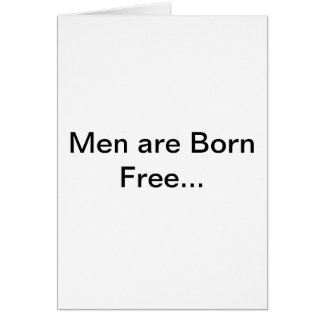 Men and Marriage Greeting Cards