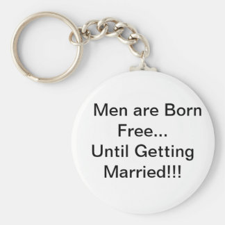 Men and Marriage Keychains