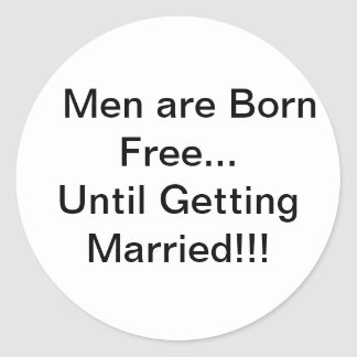 Men and Marriage Stickers