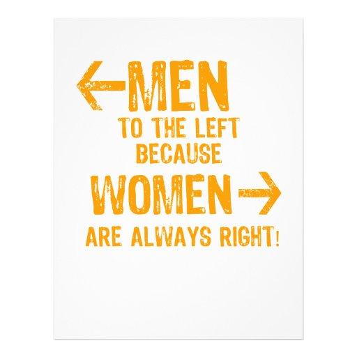 Men and Women Flyer Design