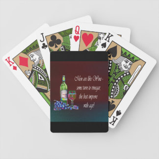 Men are like Wine, Humorous Playing Cards