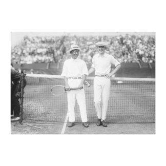 Men at Tennis Tournament at Washington DC Canvas Print