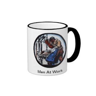 Men At Work Coffee Mugs