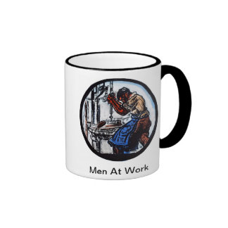 """Men At Work"" Ringer Mug"