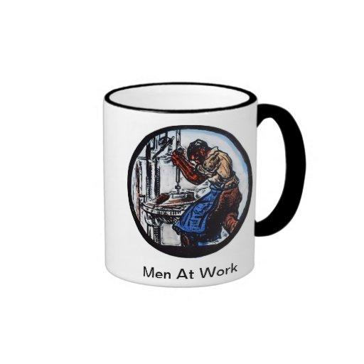 """""""Men At Work"""" Coffee Mugs"""