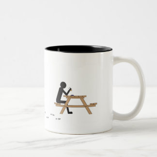 men at work white with black detail coffee mugs