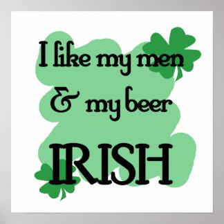 men beer poster