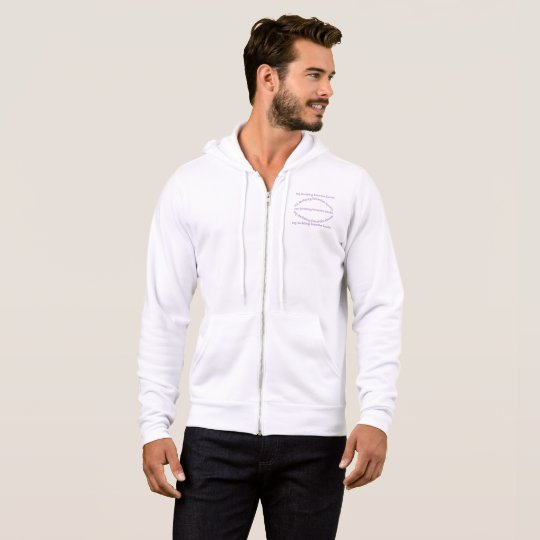 men bella +canvas full-zip t-shirt hoodie