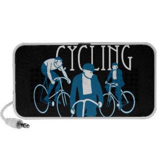 Men Bicycling Travelling Speakers