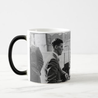 Men Chatting Black & White Image Morphing Mug